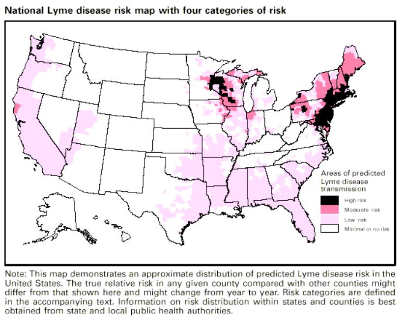 lyme disease national risk map